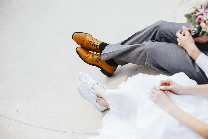 Edinburgh Alternative Wedding Photographer | Skate Park Photoshoot Elopement | Ceranna Photography