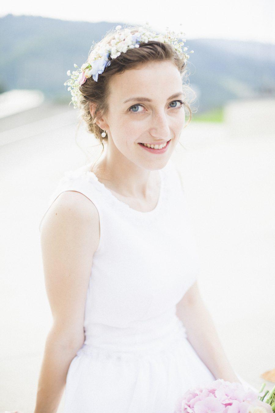 Bright and light bridal portrait