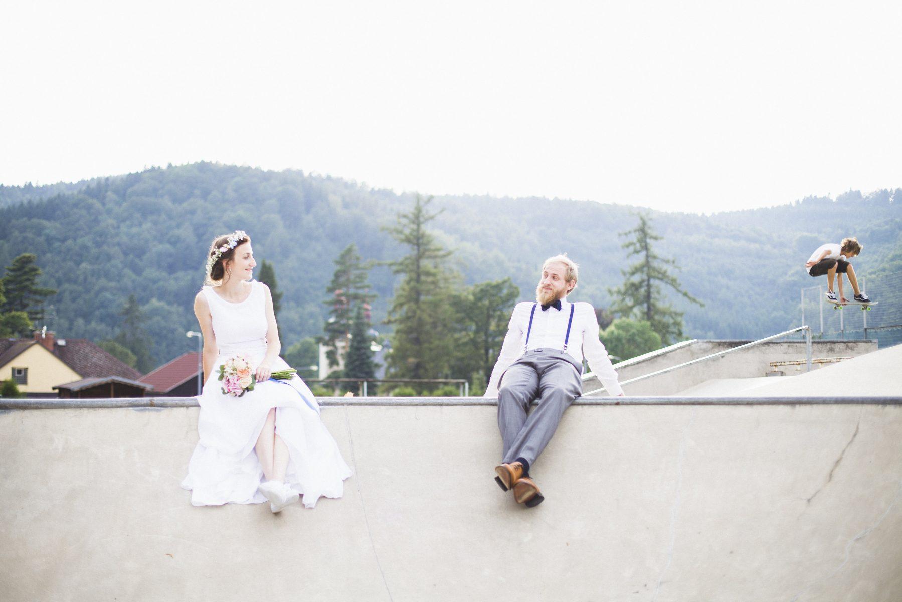 Edinburgh Alternative Wedding Photographer   Skatepark Photoshoot Elopement   Ceranna Photography