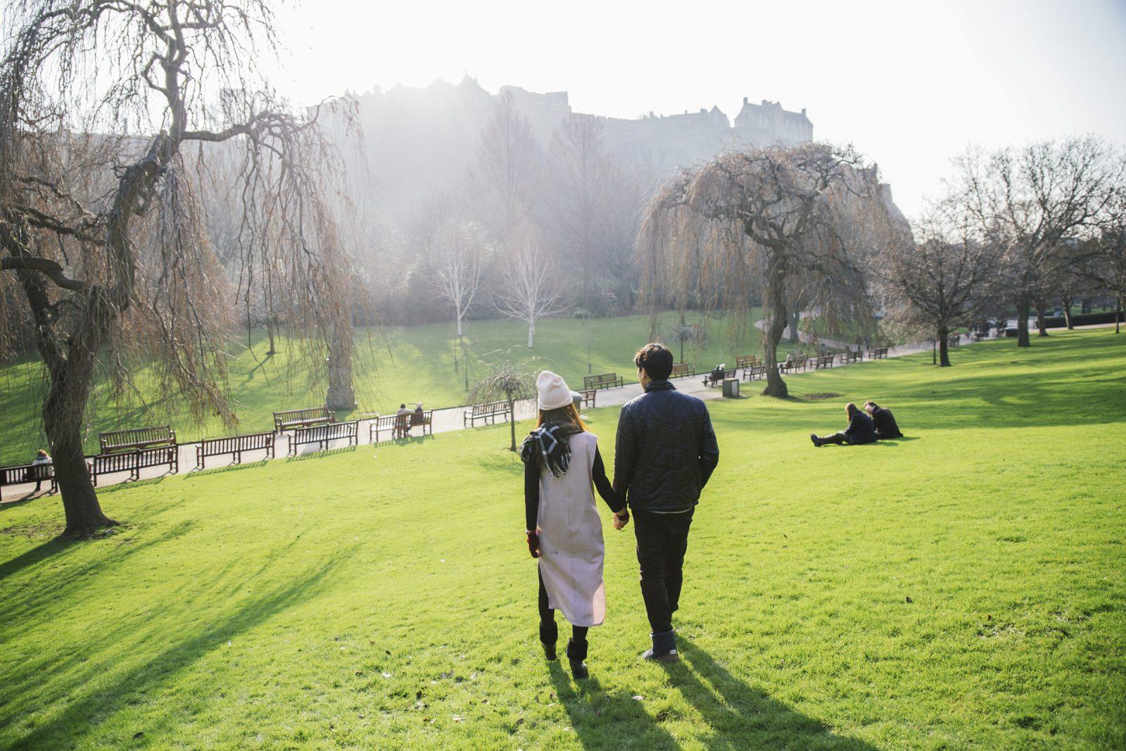 Edinburgh Casual Engagement Photoshoot and Couple Holiday Photographer by Ceranna Photography