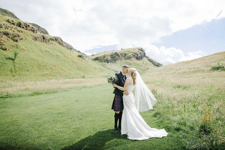 Scottish Wedding Photography in Holyrood Park, Edinburgh by Ceranna.com | Edinburgh Fine Art Wedding Photographer