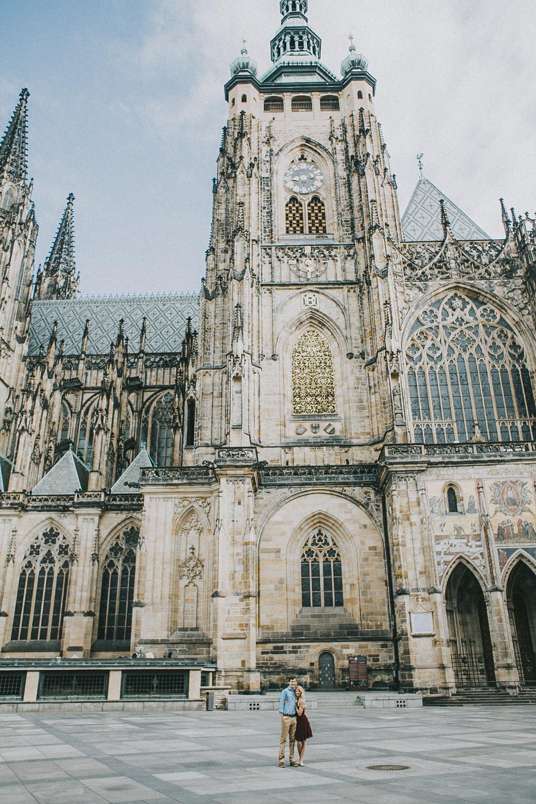 Prague Castle Couple Photography