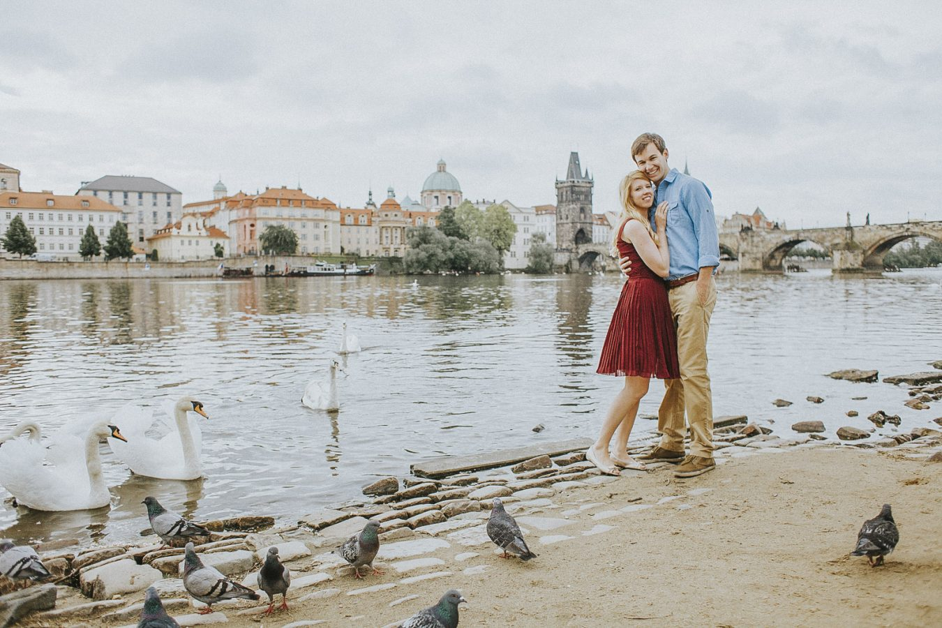 Charles Bridge Couple Photoshoot