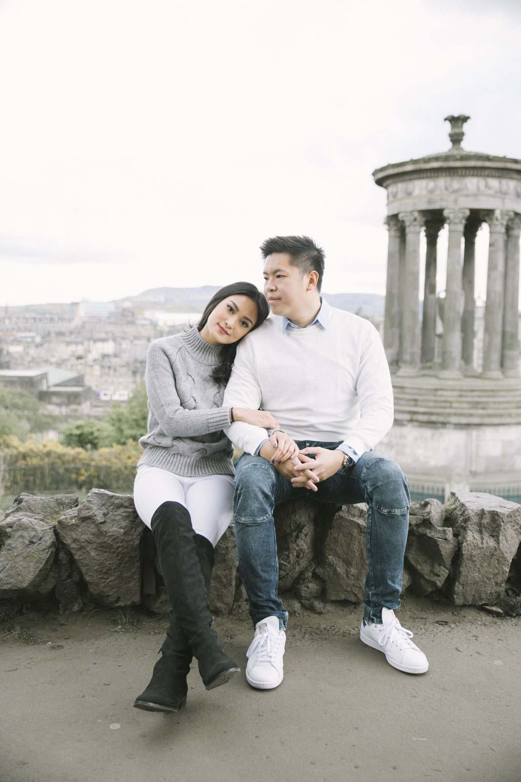 Edinburgh Couple Photoshoot | Suprise Proposal on Calton Hill by Ceranna Photography - Scottish Fine Art Wedding Photographer