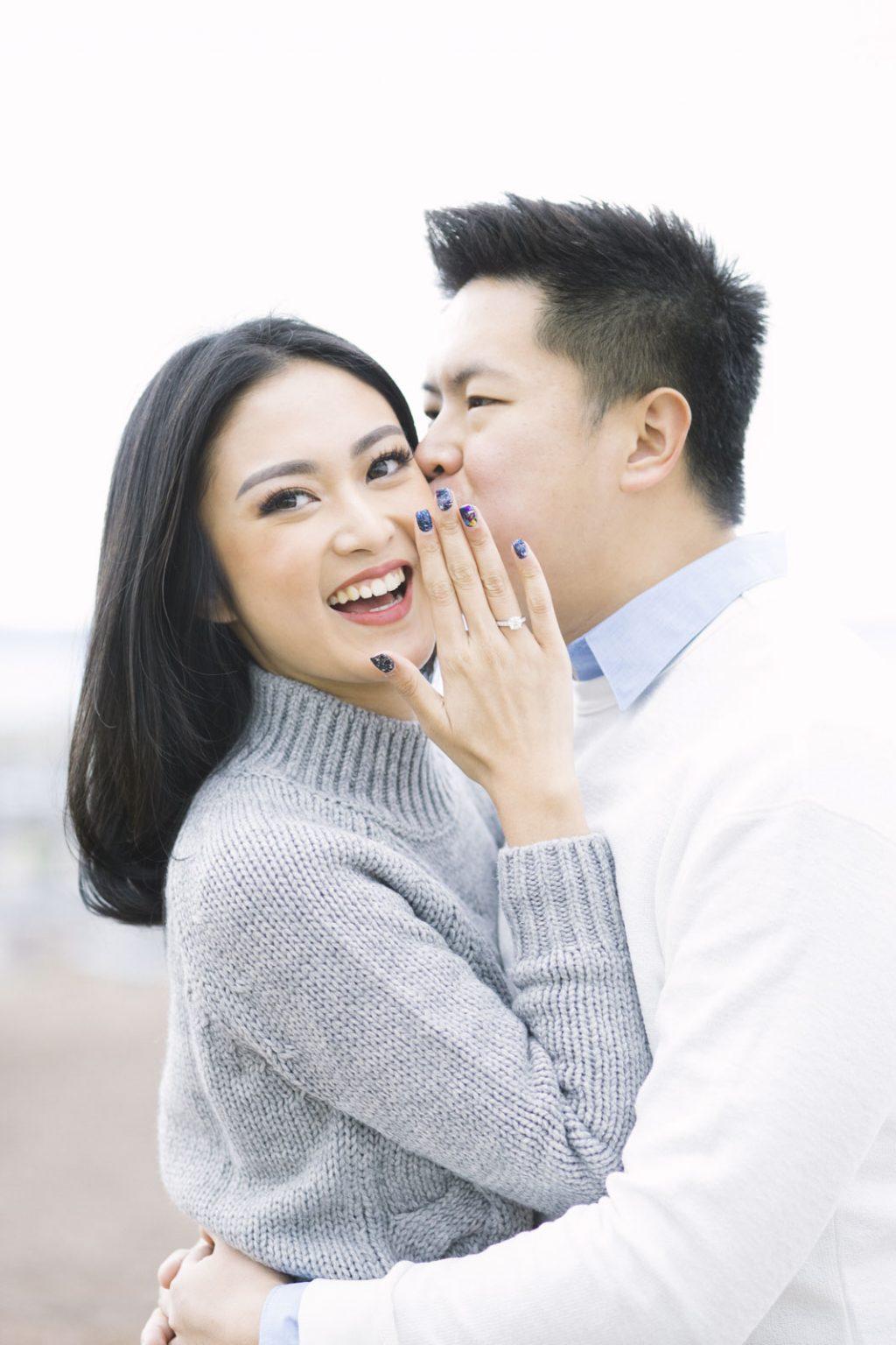 Couple Photoshoot | Suprise Wedding Proposal at Calton Hill | Edinburgh Engagement Photography by Ceranna | Scottish Fine Art Wedding Photographer