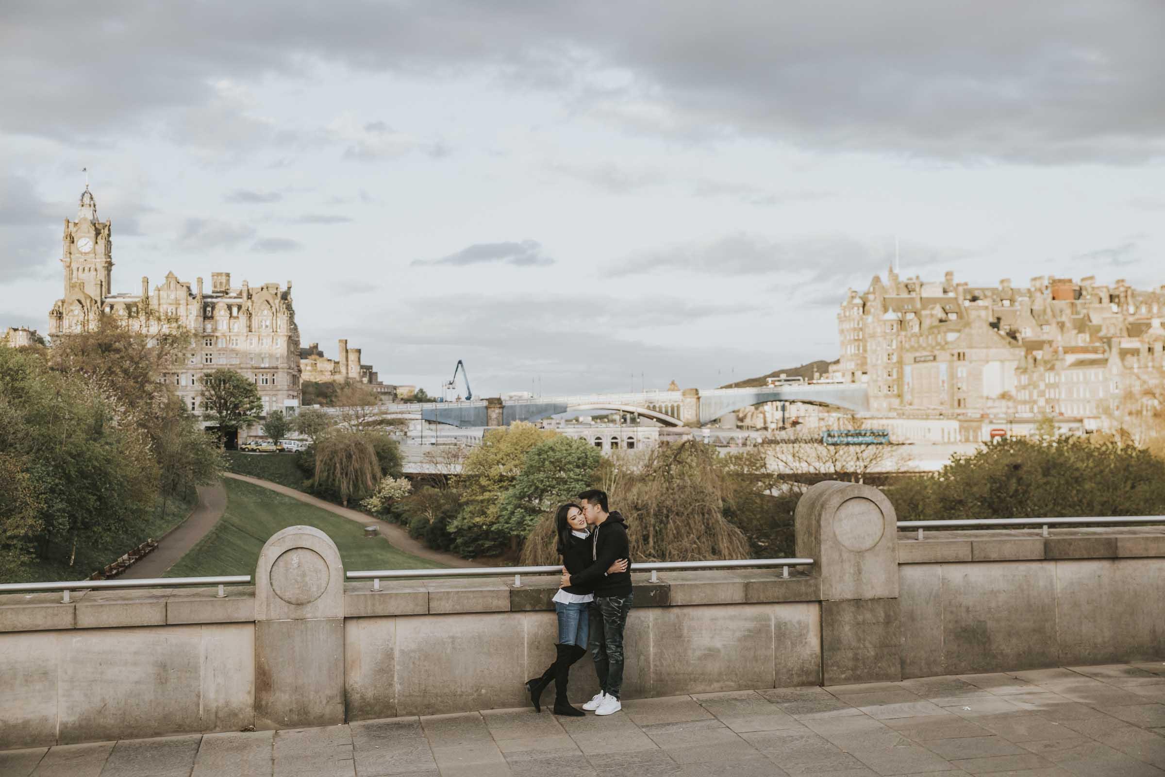 Couple Photoshoot   Suprise Wedding Proposal at Calton Hill   Edinburgh Engagement Photography by Ceranna   Scottish Fine Art Wedding Photographer