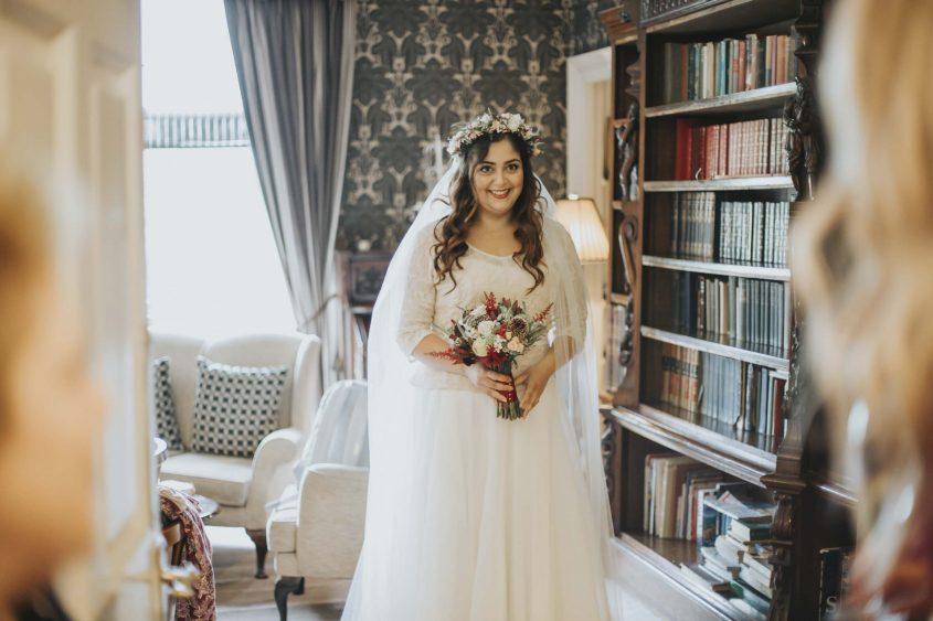 Bride Getting Ready at Culcreuch Castle
