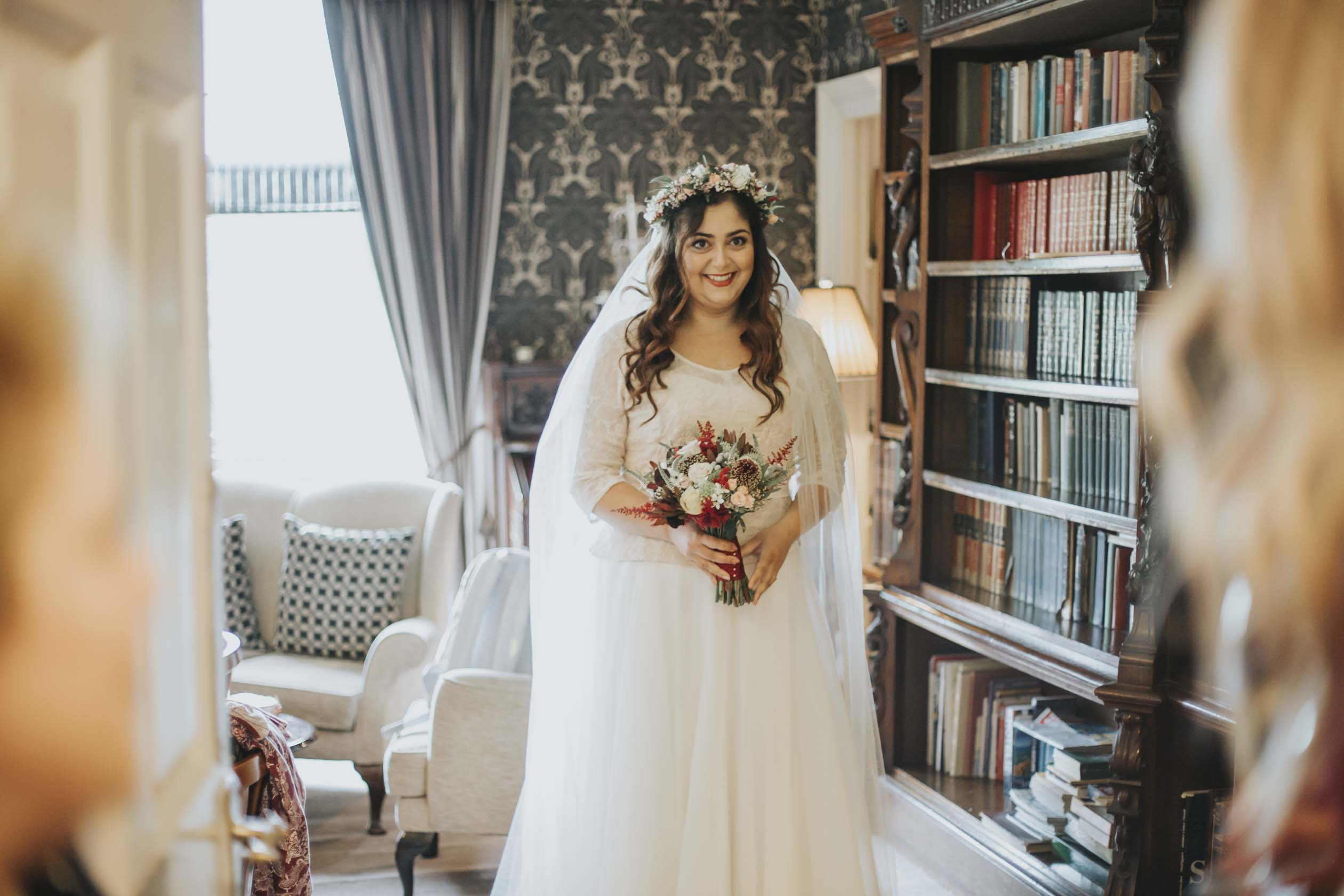 Bride Getting Ready at Culcreuch Castle