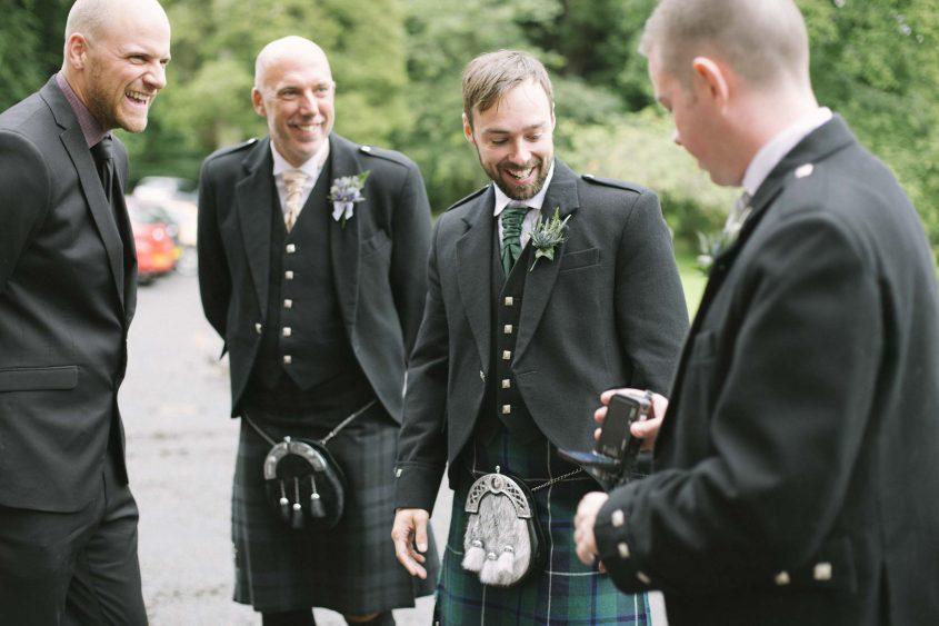 Scottish Wedding Photo