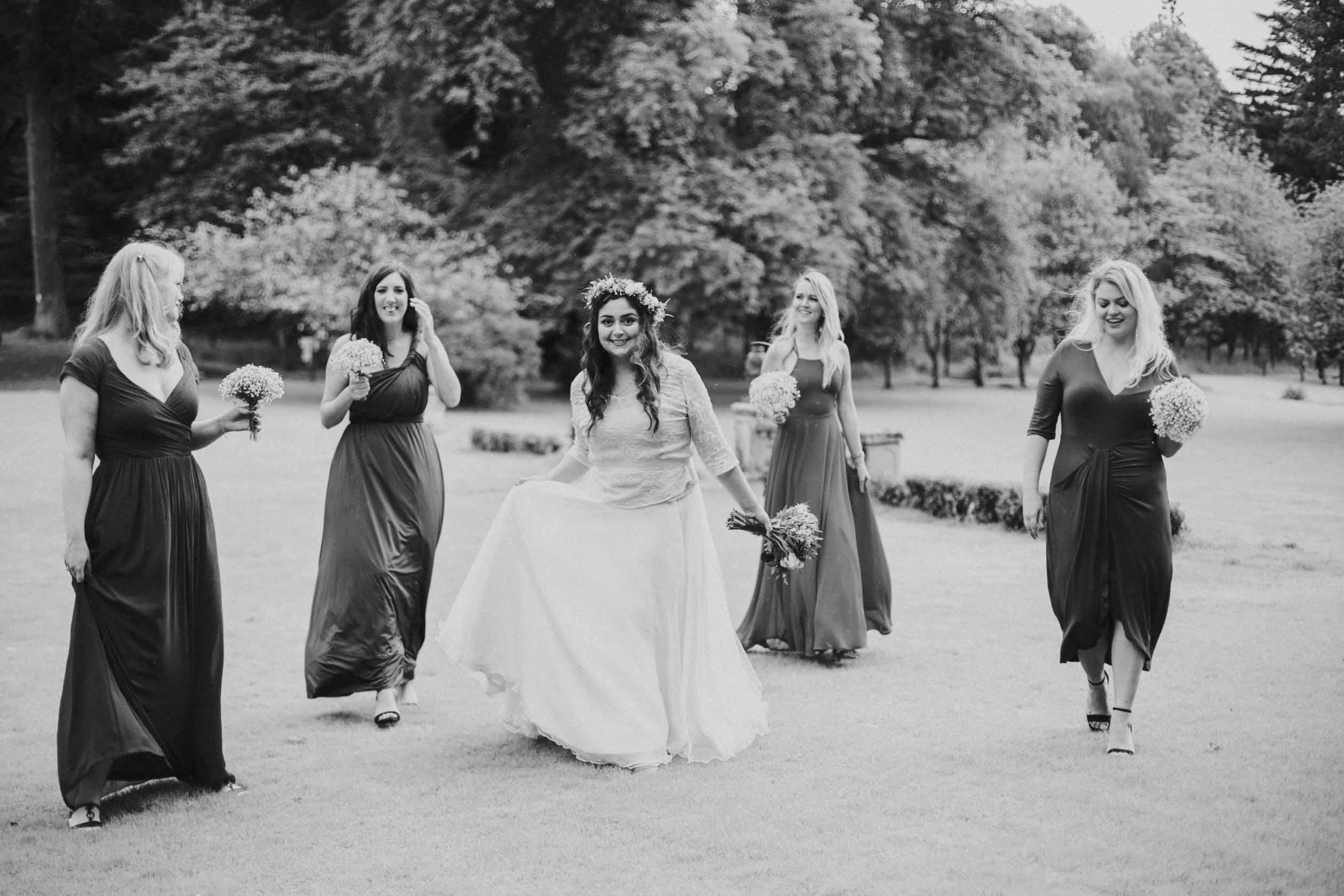 Culcreuch Castle Wedding   Scottish Wedding Photographer   Ceranna Photography   Alternative Photographs   Scottish Elopement   International Couple   Burgundy Colour Scheme