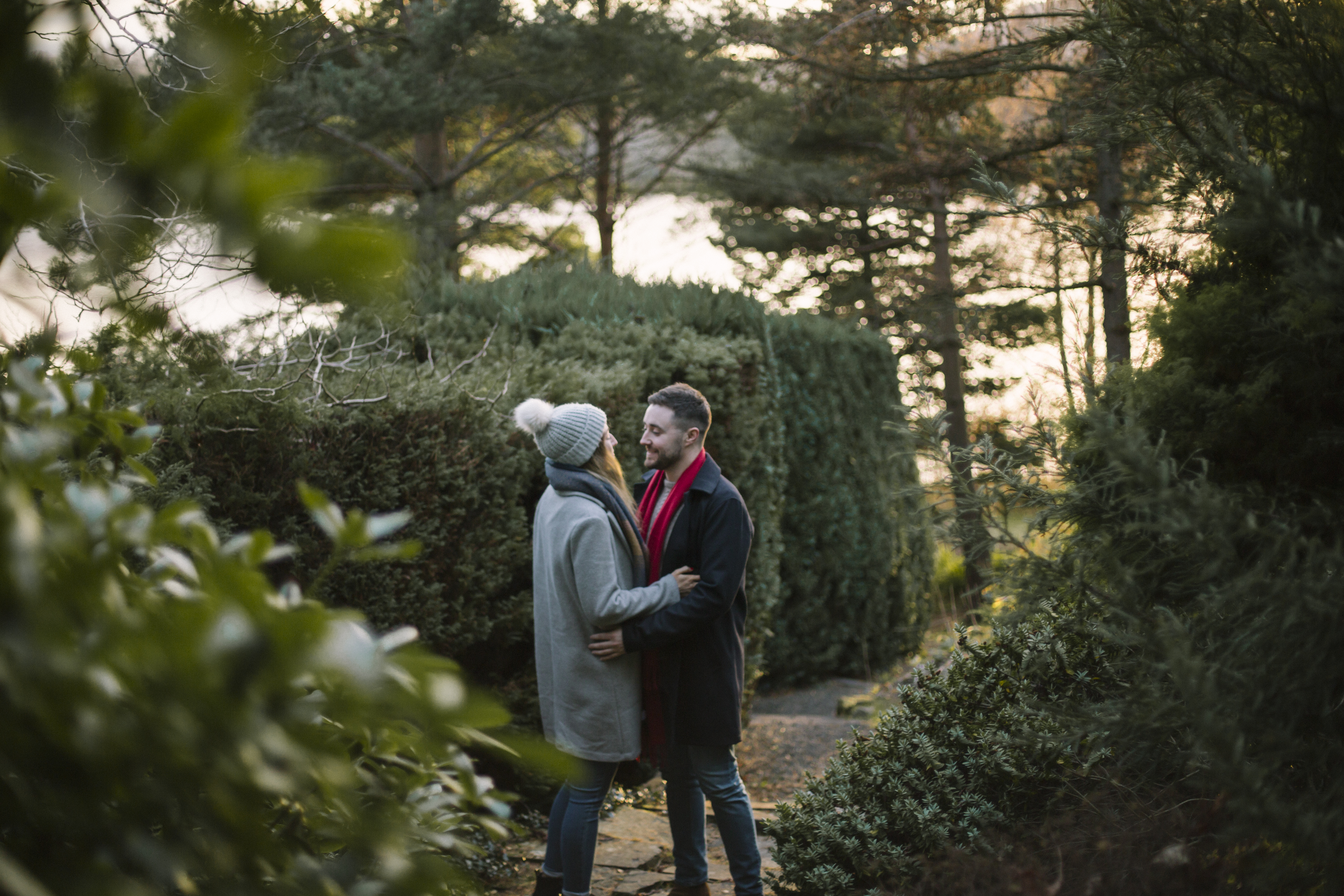 Edinburgh Surprise Wedding Proposal at Dr Neils Garden, Duddingston | Scottish Engagement Photographer