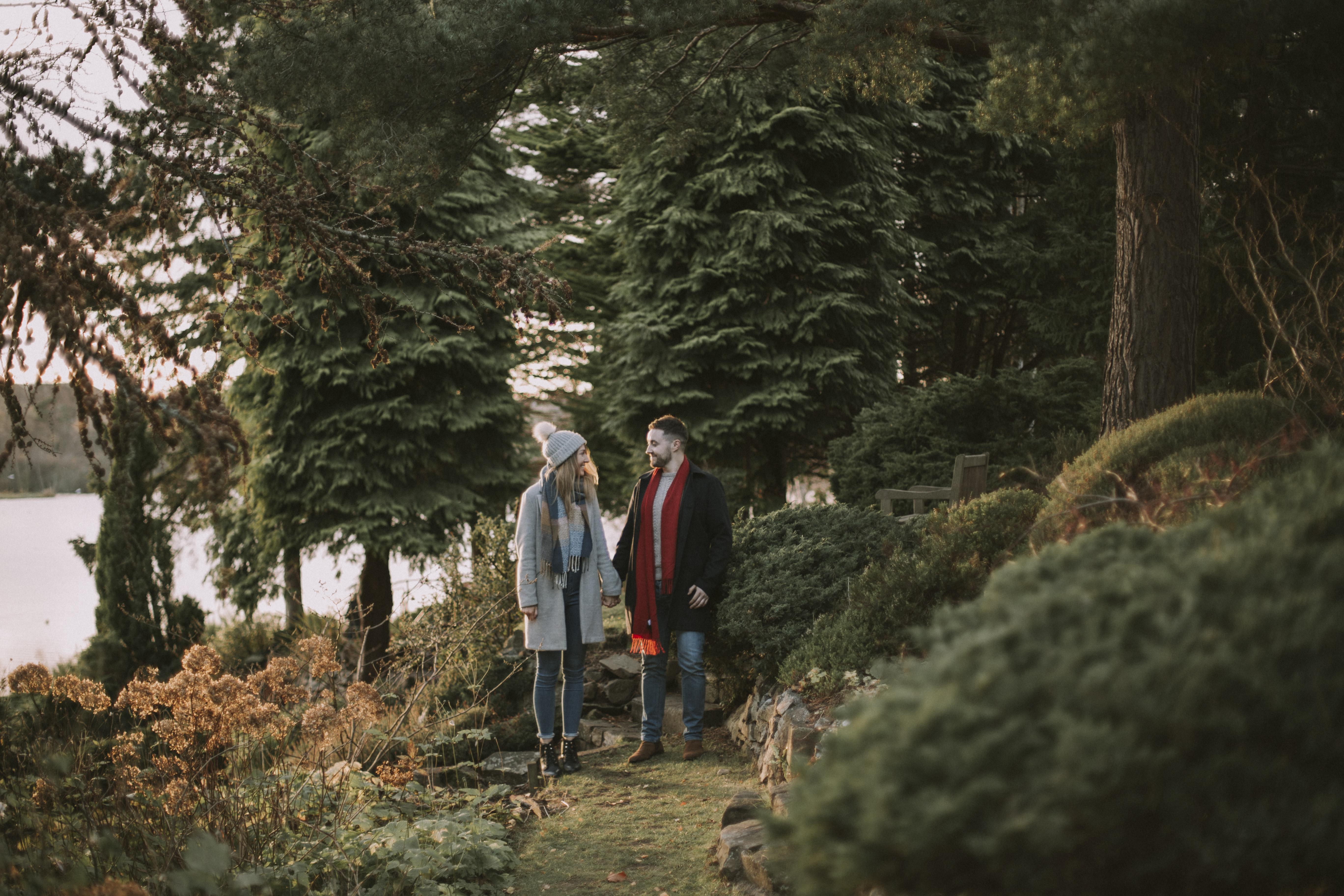 Edinburgh Secret Engagement Proposal in Dr Neils Garden near holyrood park | Scottish Engagement Photographer | Proposal Photography | Ceranna Photo