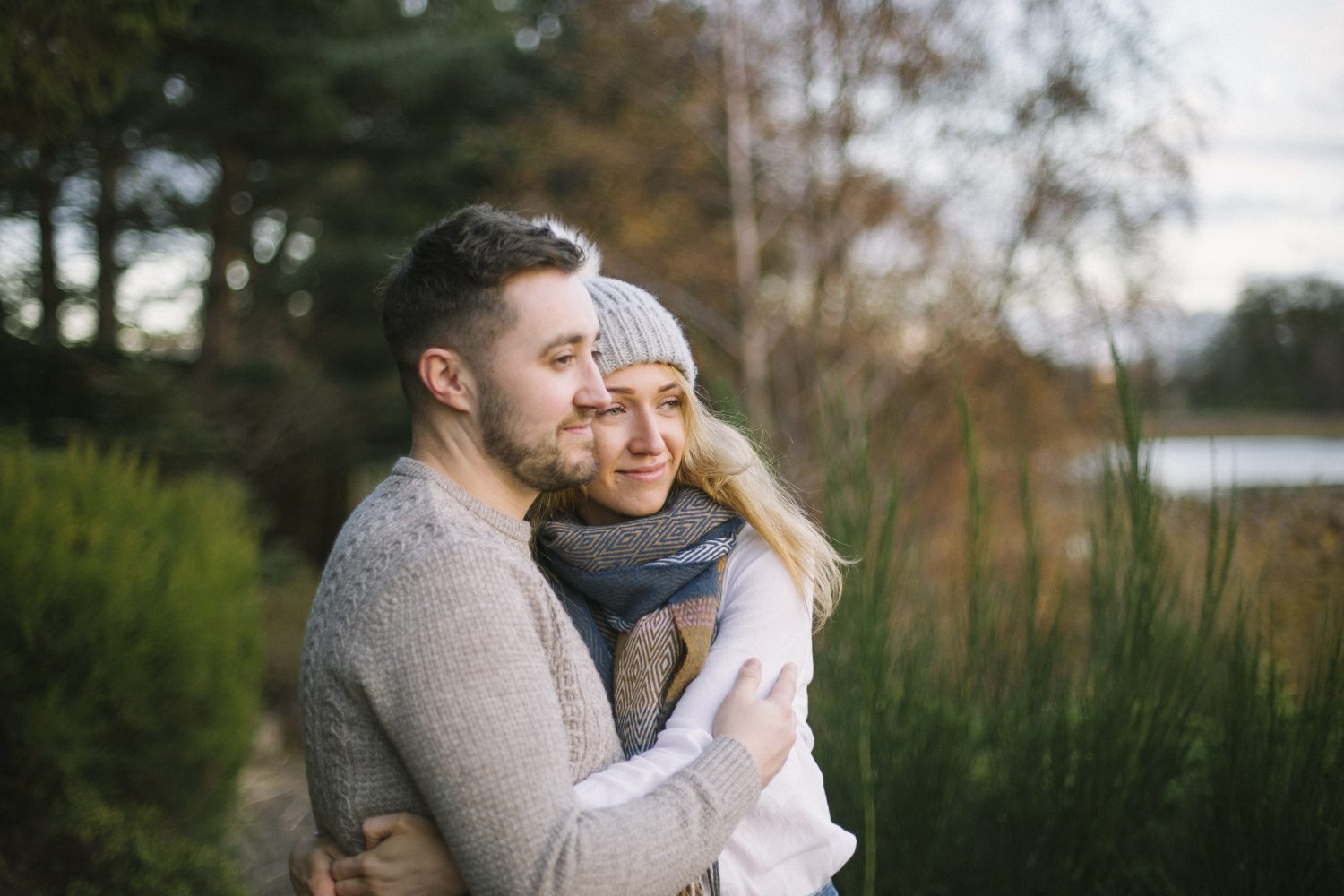 Edinburgh Surprise Wedding Proposal at Dr Neils Garden, Duddingston | Scottish Engagement Photographer