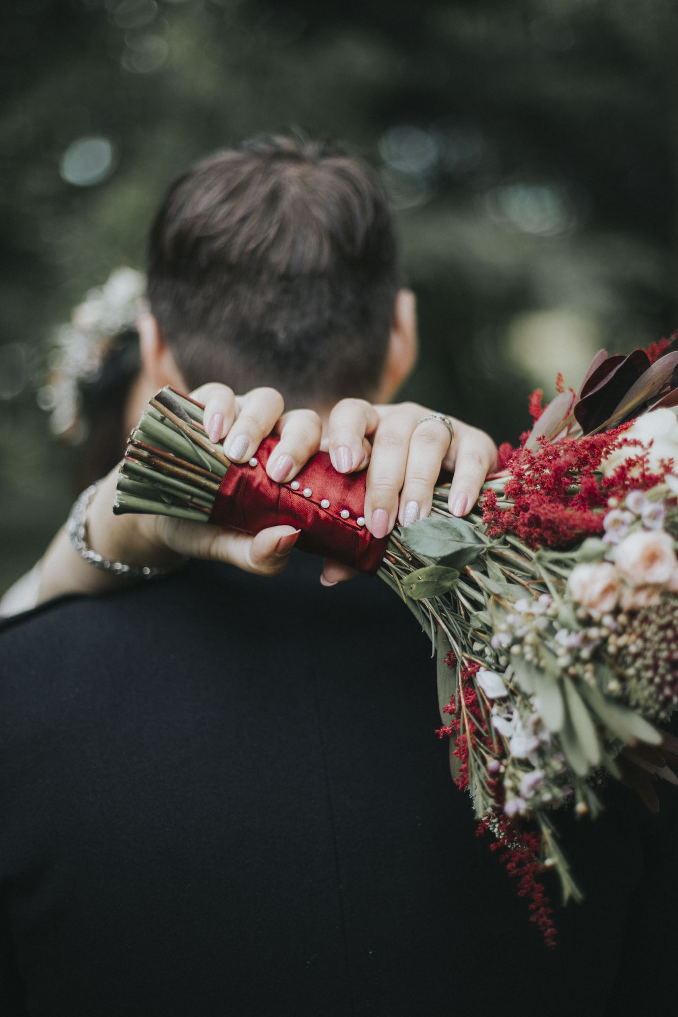 International wedding at Culcreuch Castle | Scottish Wedding Photographer | Burgundy colour scheme