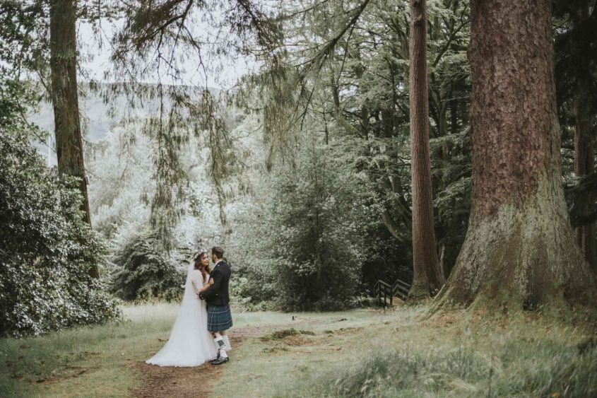 Culcreuch Castle Wedding | Scottish Wedding Photographer | Ceranna Photography | Alternative Photographs | Scottish Elopement | International Couple