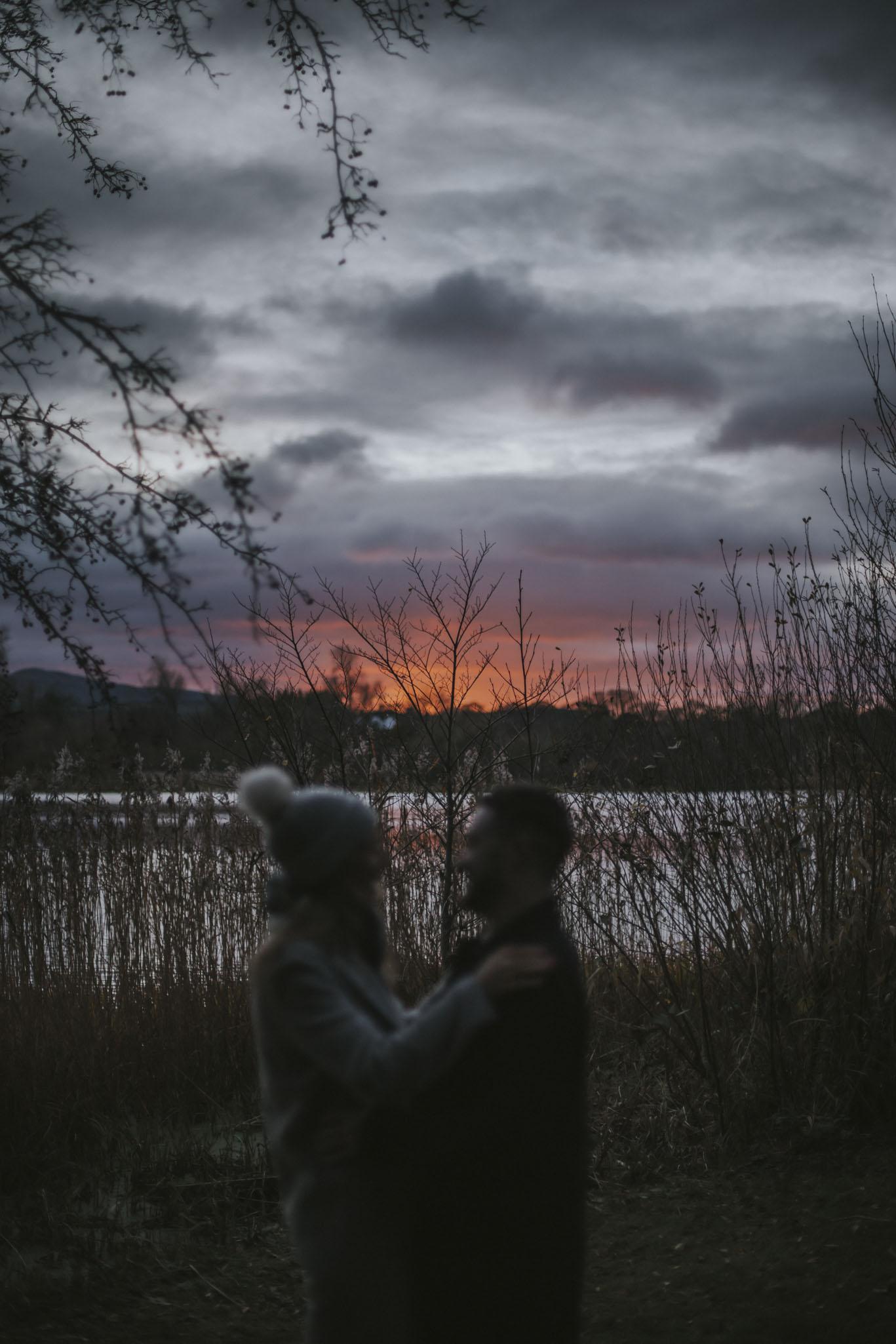 Edinburgh Surprise Wedding Proposal | Duddingston Loch | Holyrood Park Engagement Photography | Scottish Photographer