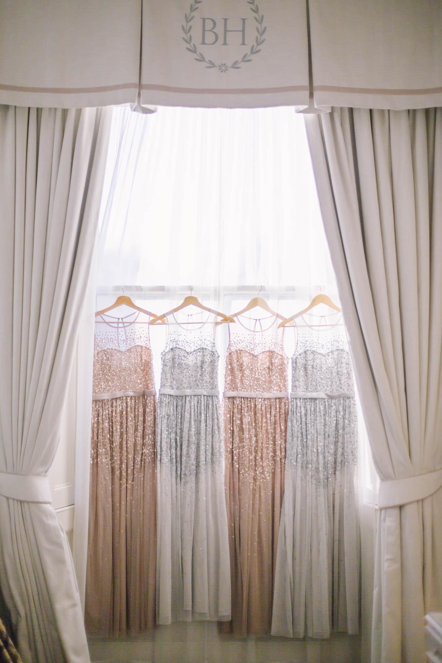 Balbirnie House Wedding captured by Edinburgh Wedding Photographer Ceranna Photography | Asos Sparkly Glitter Bridesmaid Dresses