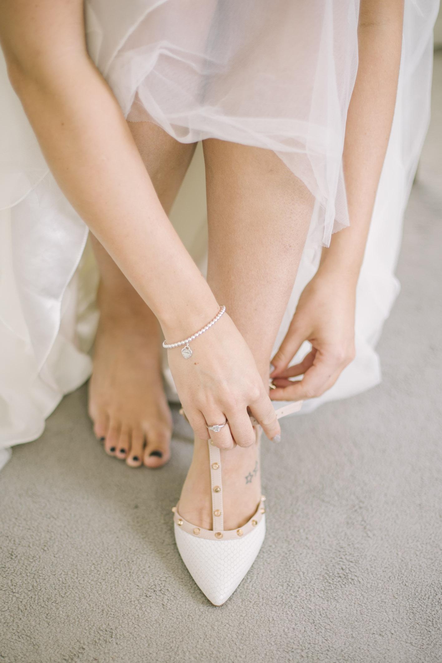 Bride getting ready at Balbirnie House Wedding Photography by Ceranna, Edinburgh based Wedding and Elopement Photographer