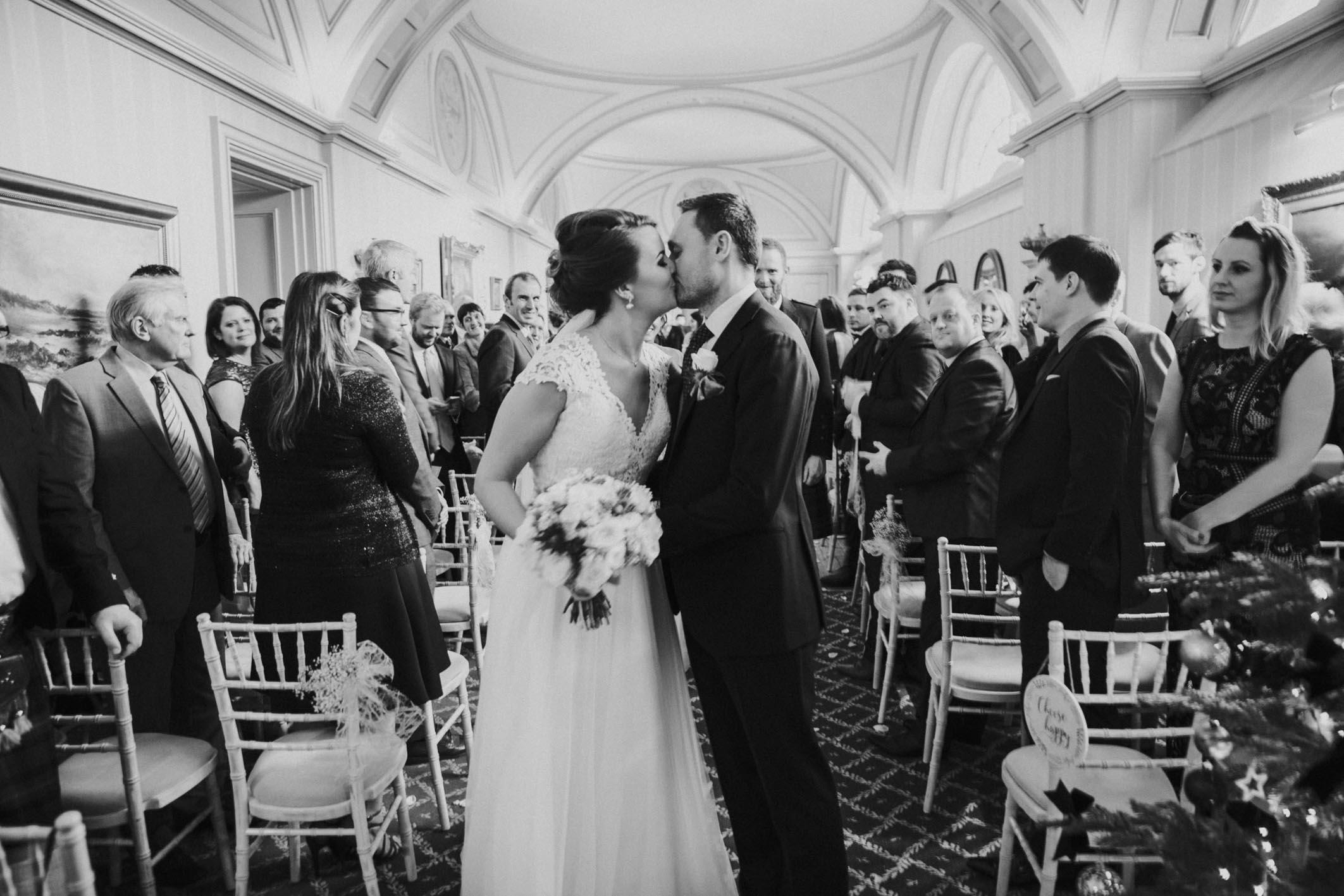Balbirnie House Wedding Photography | Scottish Winter Wedding | Christmas Wedding