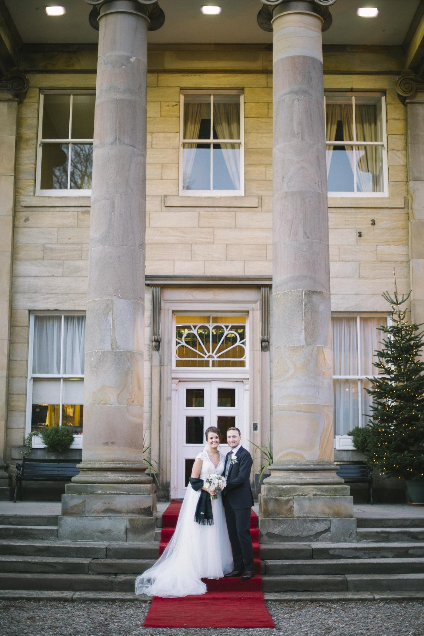Balbirnie House Wedding Photography | Scottish Winter Wedding | Christmas Wedding