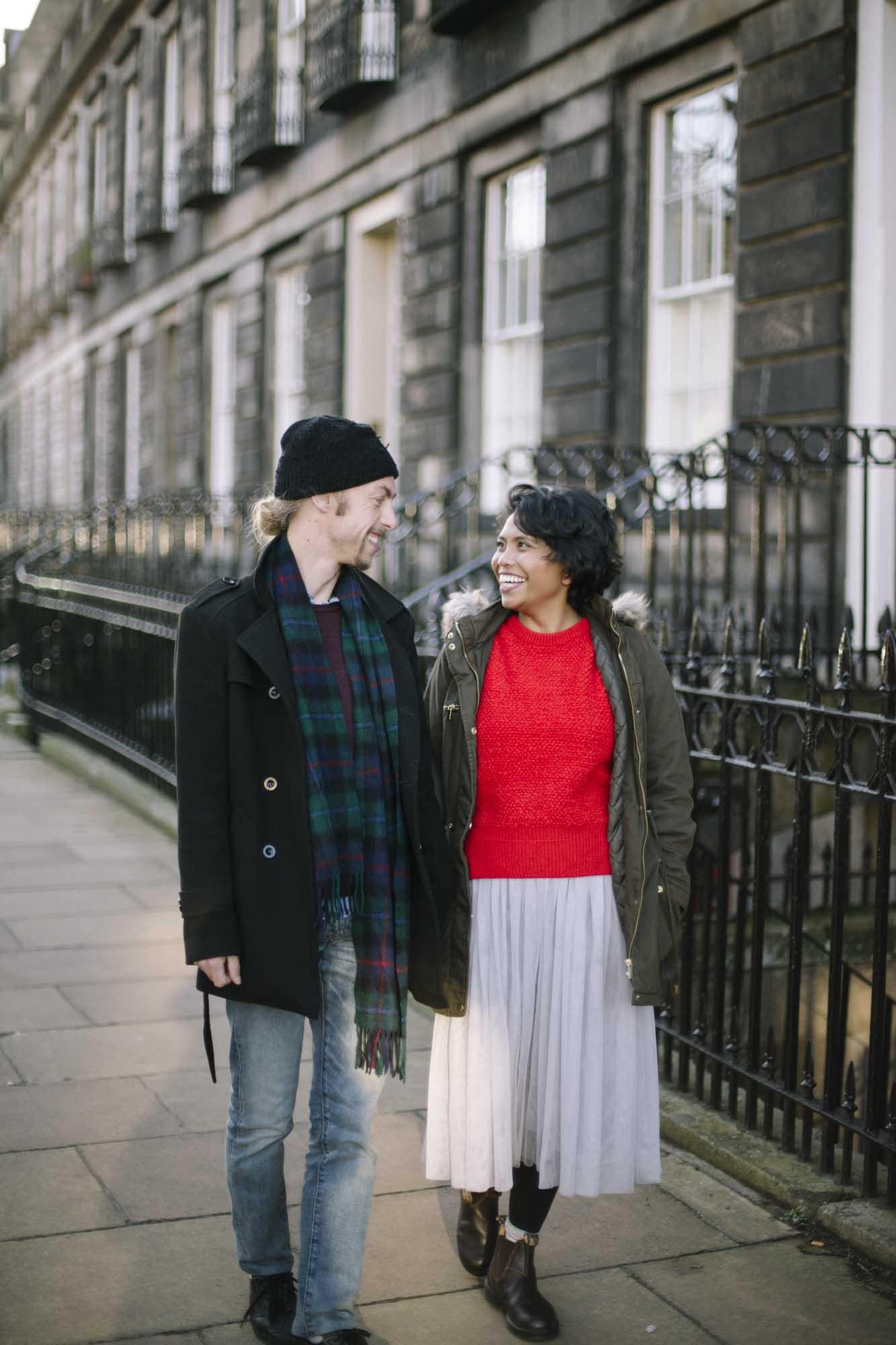 Stockbridge Edinburgh Couple Photography