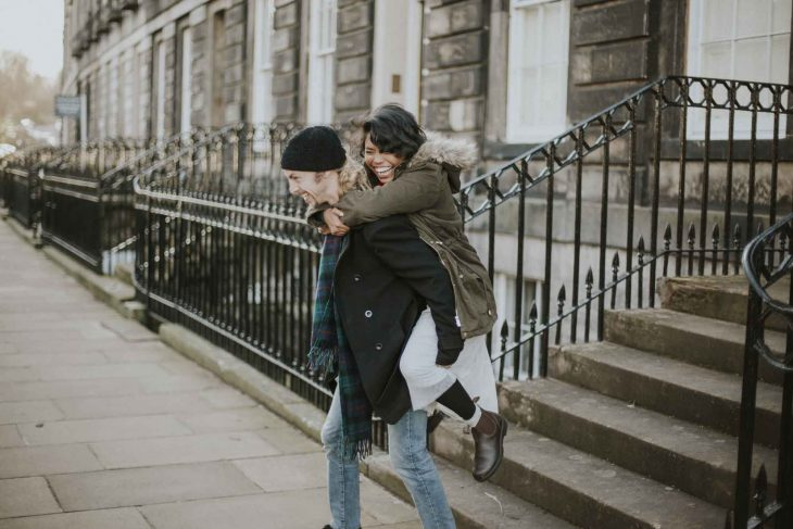 Edinburgh Couple Photoshoot | Scottish Engagement Photographer | Pre Wedding Photos | Deans Village Tourist Sights
