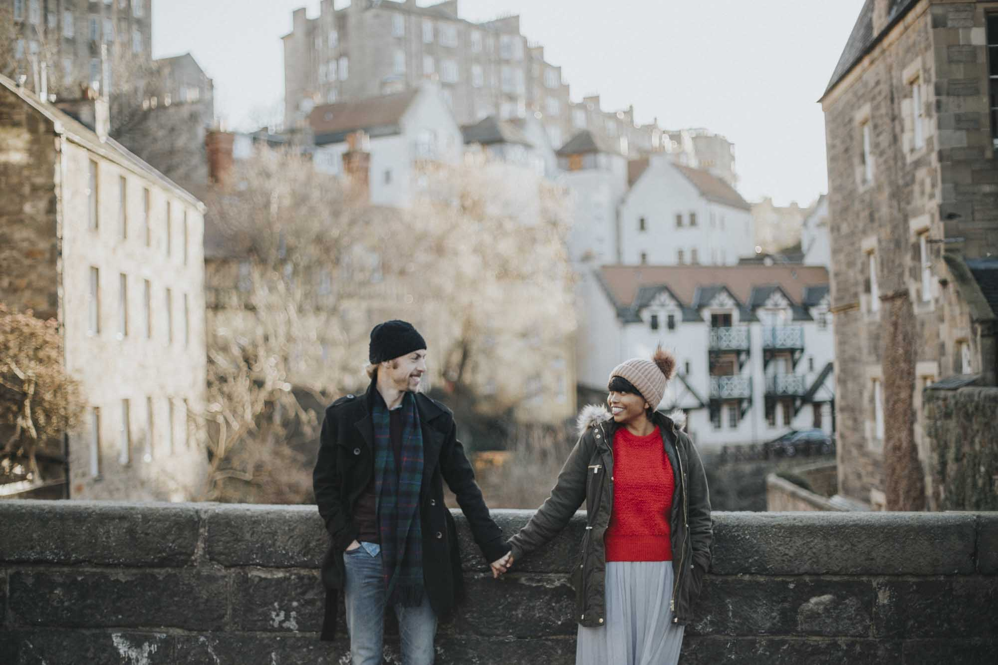 Edinburgh Couple Photography Alternative Engagement Photographer