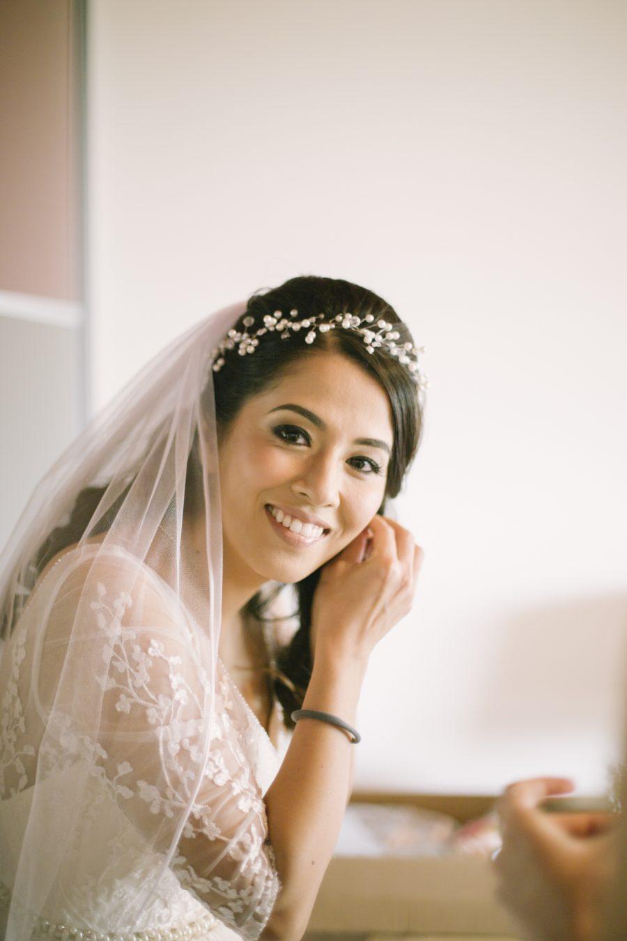 Barn at Barra Castle Wedding | bride getting ready | Aberdeenshire wedding photographer | Edinburgh engagement photography
