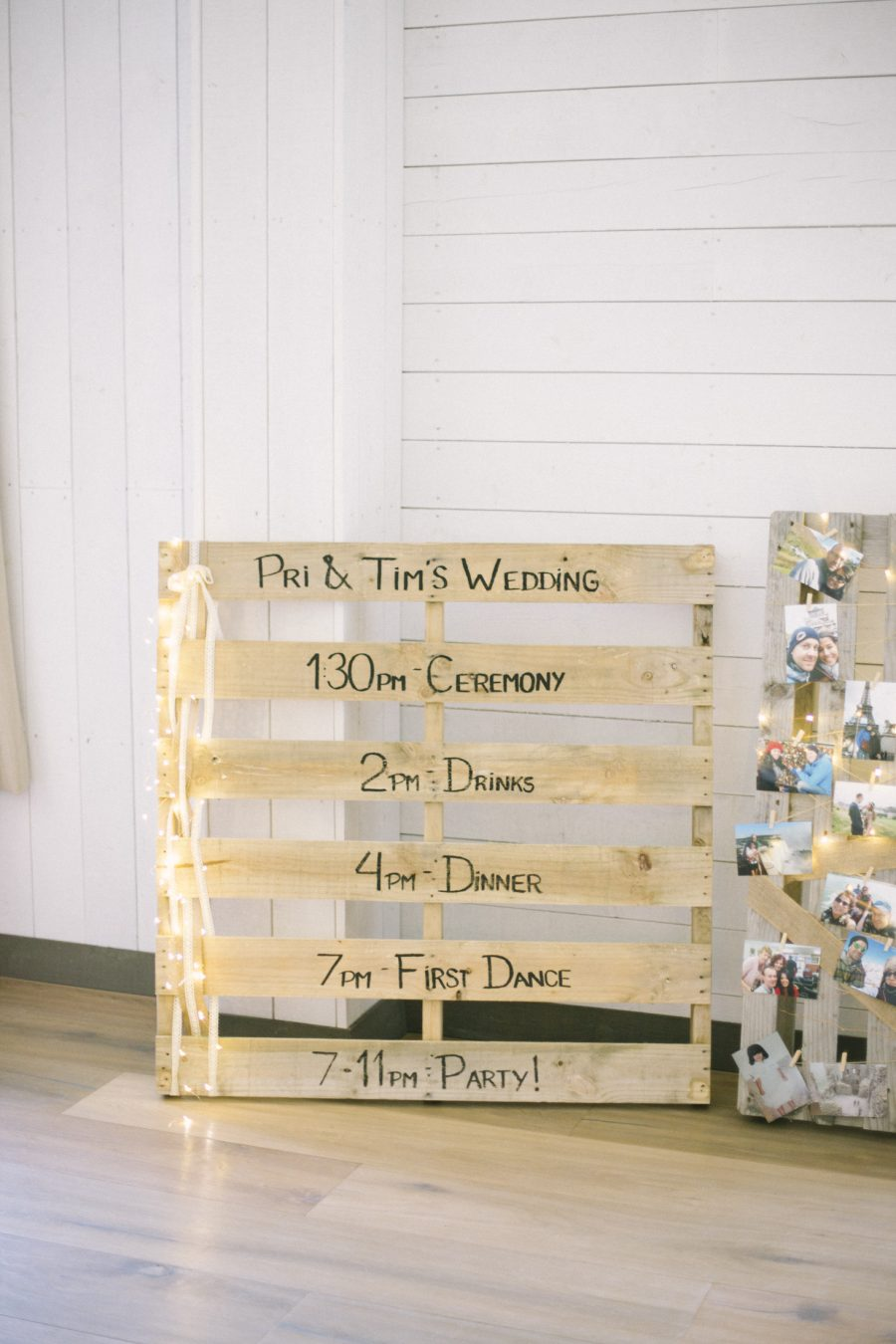 Scottish Rustic Wedding Ideas   Wedding Schedule on Palette   Scottish Barn Wedding   Barn at Barra Castle