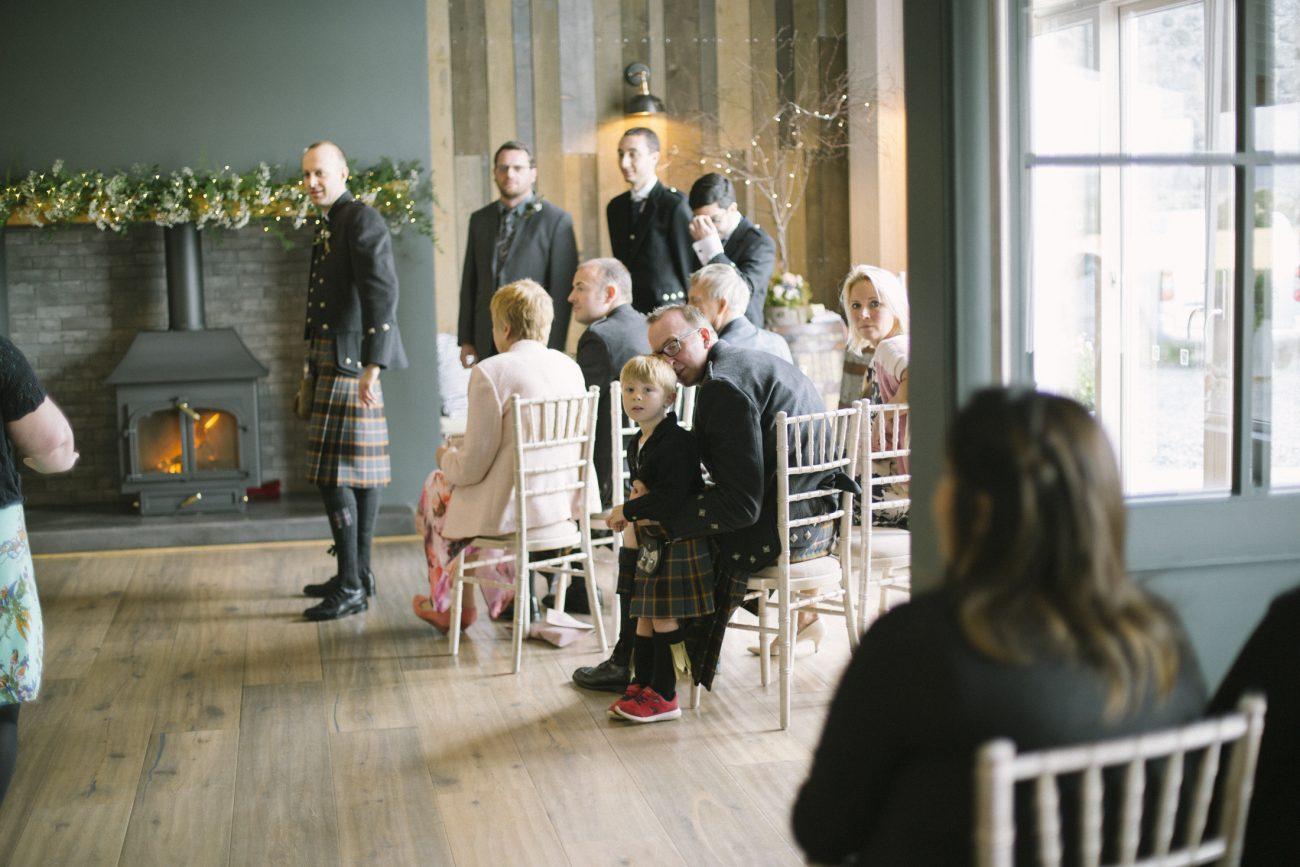 Barn at Barra Castle Wedding Venue   Elegant Rustic Interior   Wedding Photography