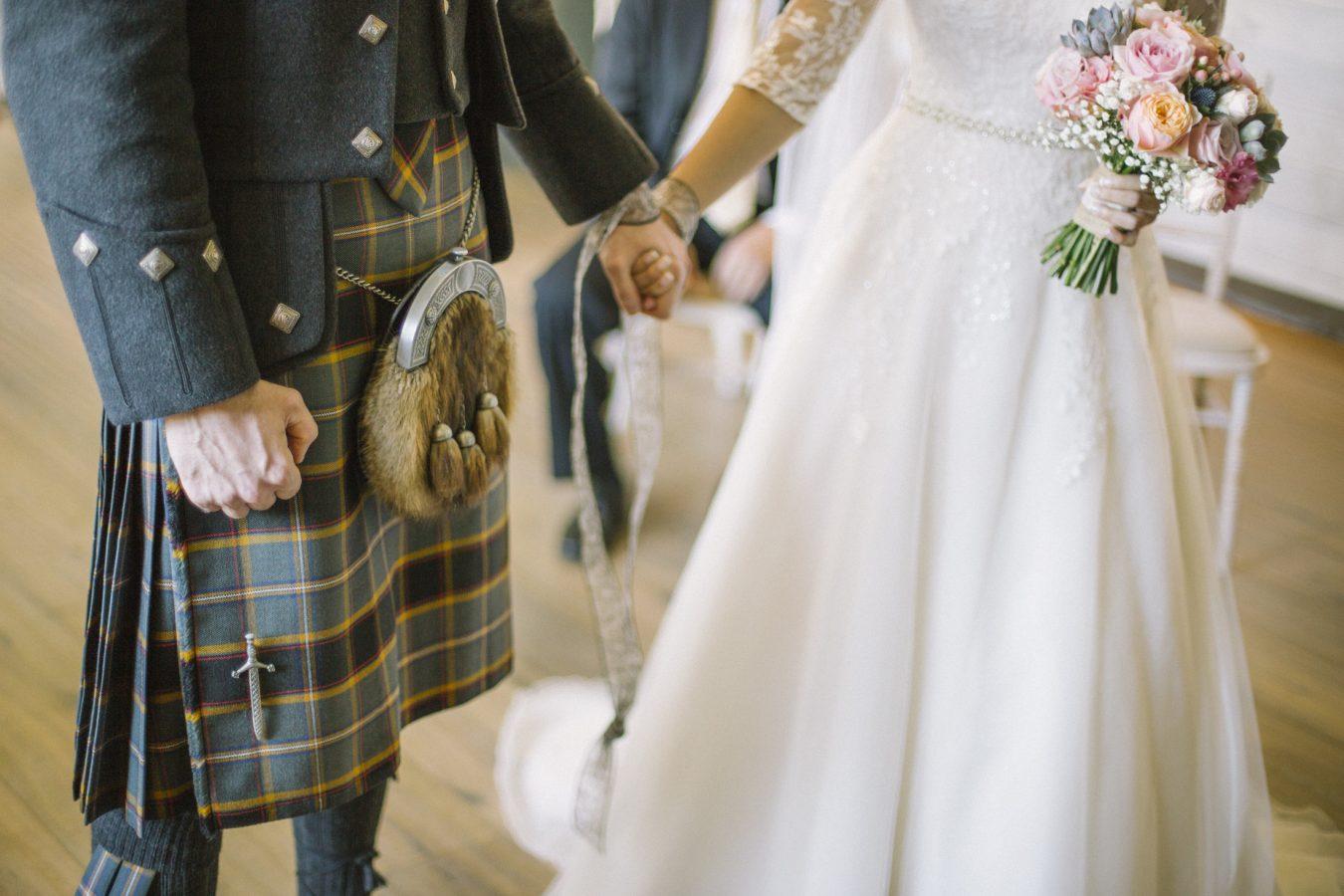 Scottish rustic barn venue wedding photography | Barn at Barra Castle | Aberdeenshire Elegant Photographer