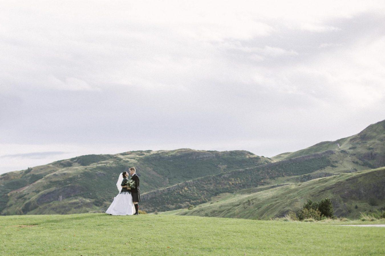 Edinburgh Castle Destination Elopement Photography | Calton Hill Edinburgh Wedding Photography | Romantic Scottish Destination Wedding | Ceranna Photo