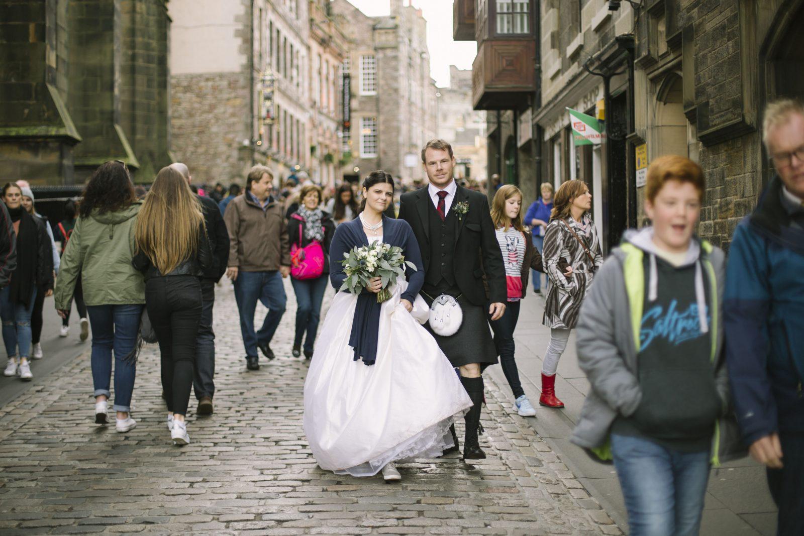 Edinbrugh Castle Destination Elopement Wedding Photography
