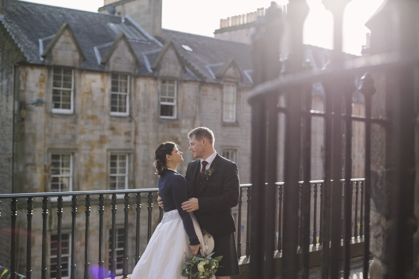 Edinburgh Castle Destination Elopement Photography