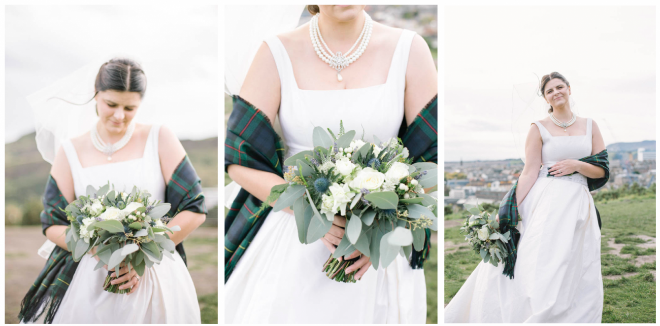 St Margaret's Chapel Edinburg Castle Wedding Photography | Scottish Destination Wedding | St Margaret's Chapel Elopement | intimate wedding photography by Ceranna | Edinburgh Wedding Photographer