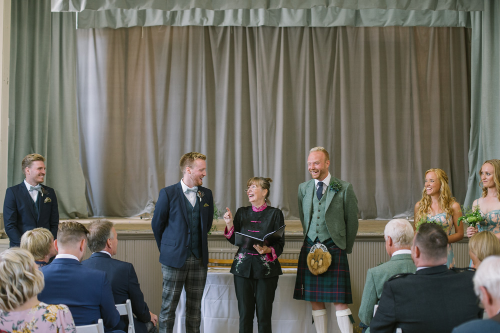 Elie Village Hall Wedding Photography | Scottish beach wedding | Scottish same sex wedding Photography |Humanist Ceremony | Fife Wedding Photographer