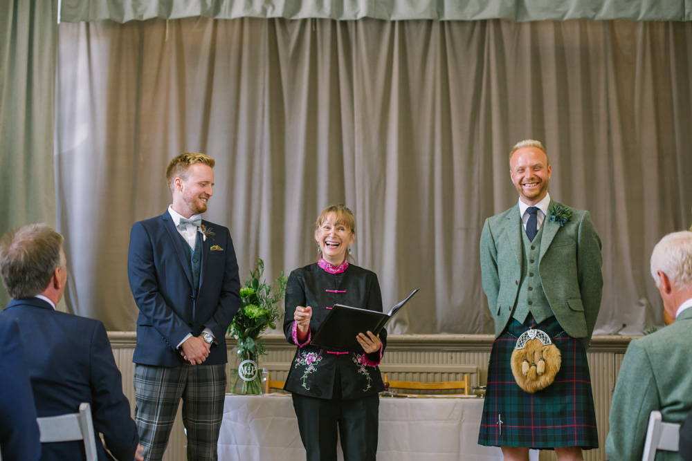 Elie Village Hall Wedding Photography | Scottish beach wedding | Scottish same sex wedding Photography | Fife Wedding Photographer
