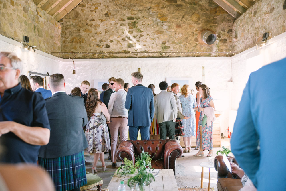 Cow Shed Crail Wedding Photography | Rustic barn venue Scotland | Alternative Wedding Photography | Vintage wedding decor | Little white cow