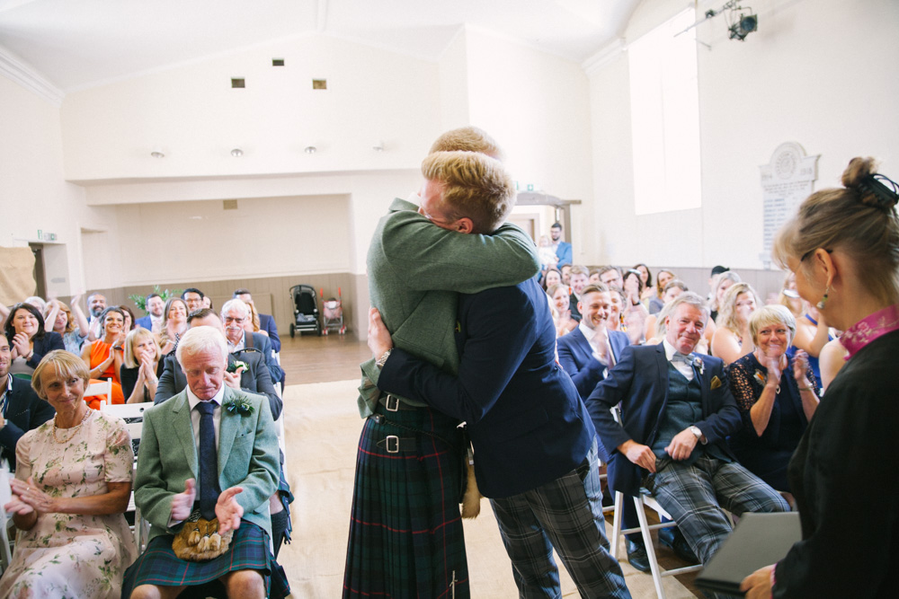 Scottish same sex marriage at Elie Village Hall