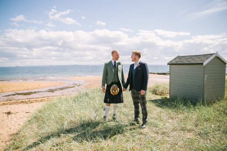 Cow Shed Crail Wedding Photography | Scottish same sex wedding photographer | Scottish Gay Wedding Photo