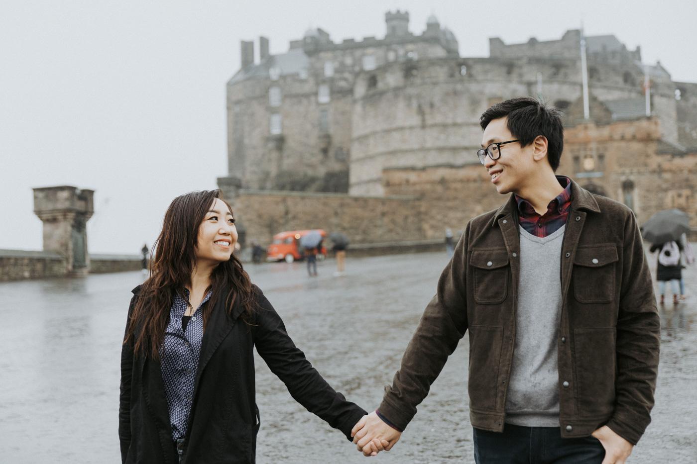Edinburgh Castle Engagement Photography