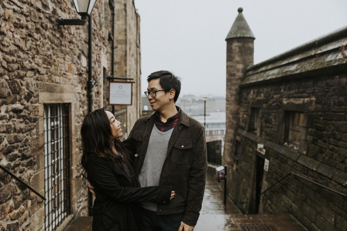 Relaxed Edinburgh Couple Photoshoot