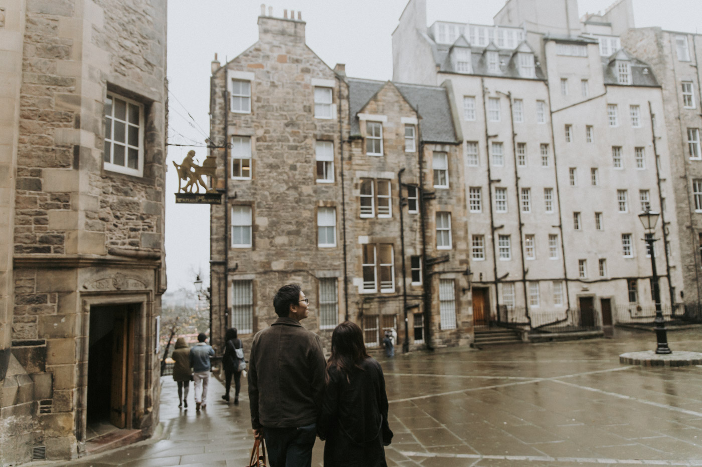 Edinburgh Engagement Couple Photography in Old Town