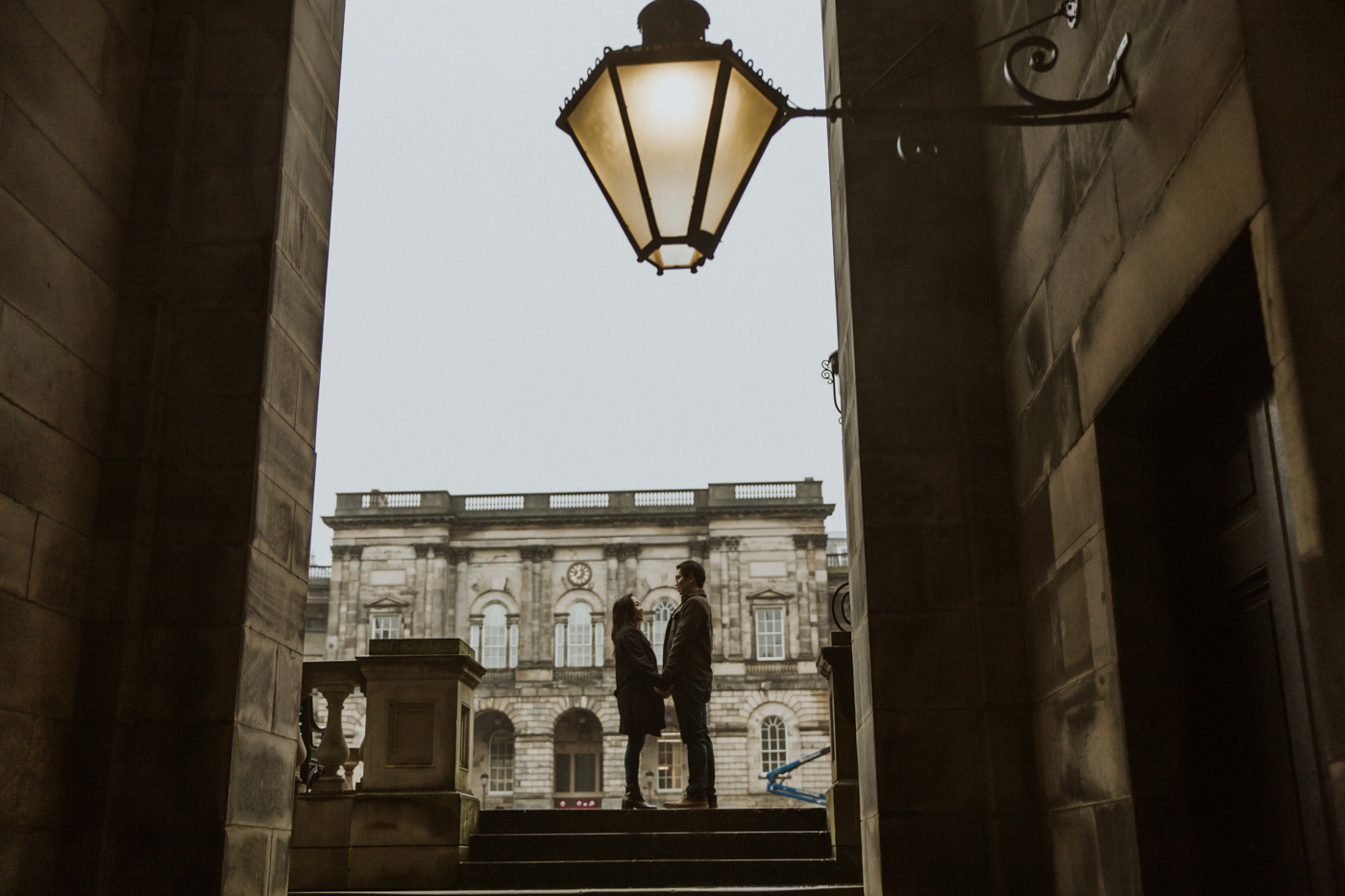Edinburgh Romantic Old Town Engagement Photoshoot by Ceranna Photography