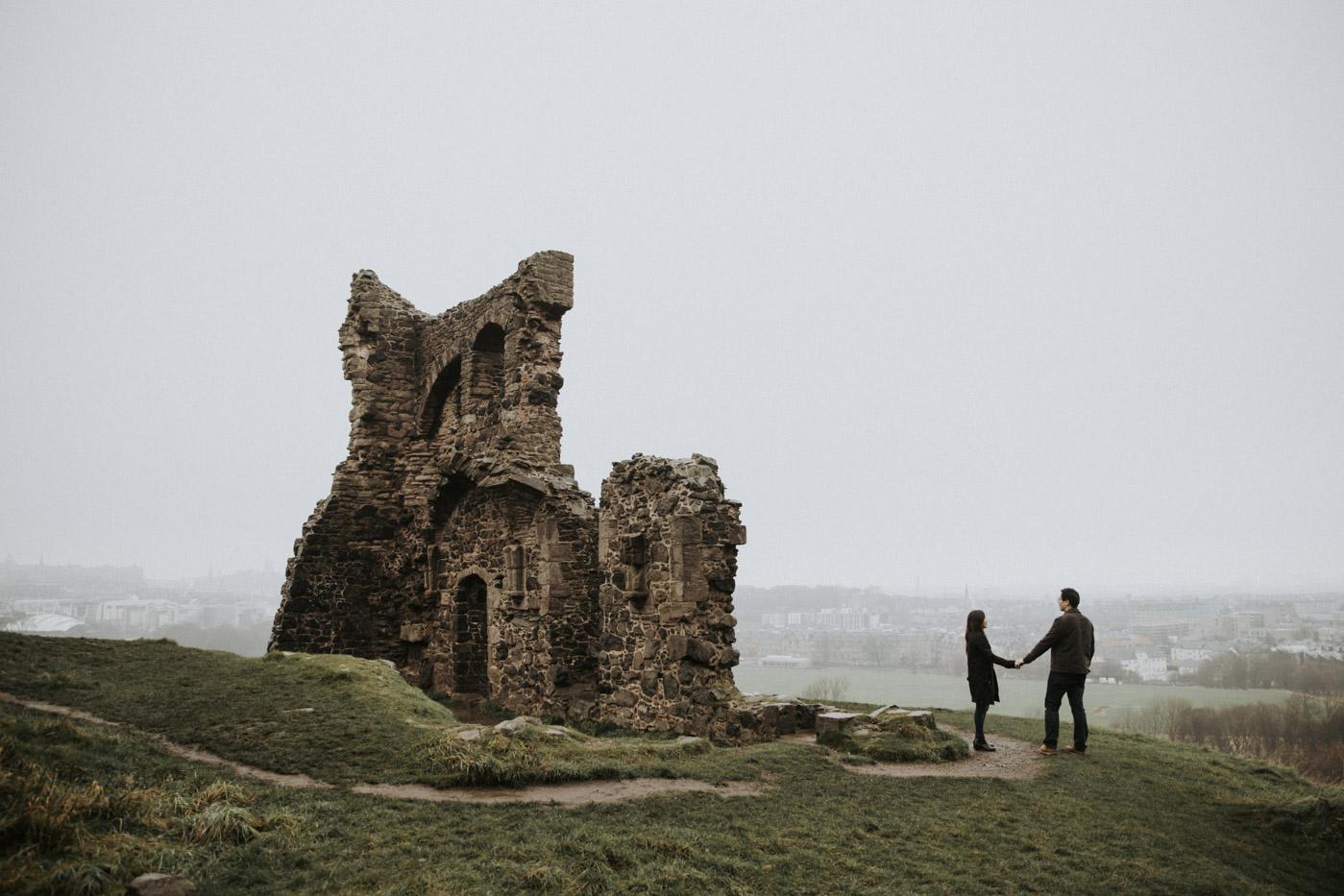 Holyrood Park Couple Photography