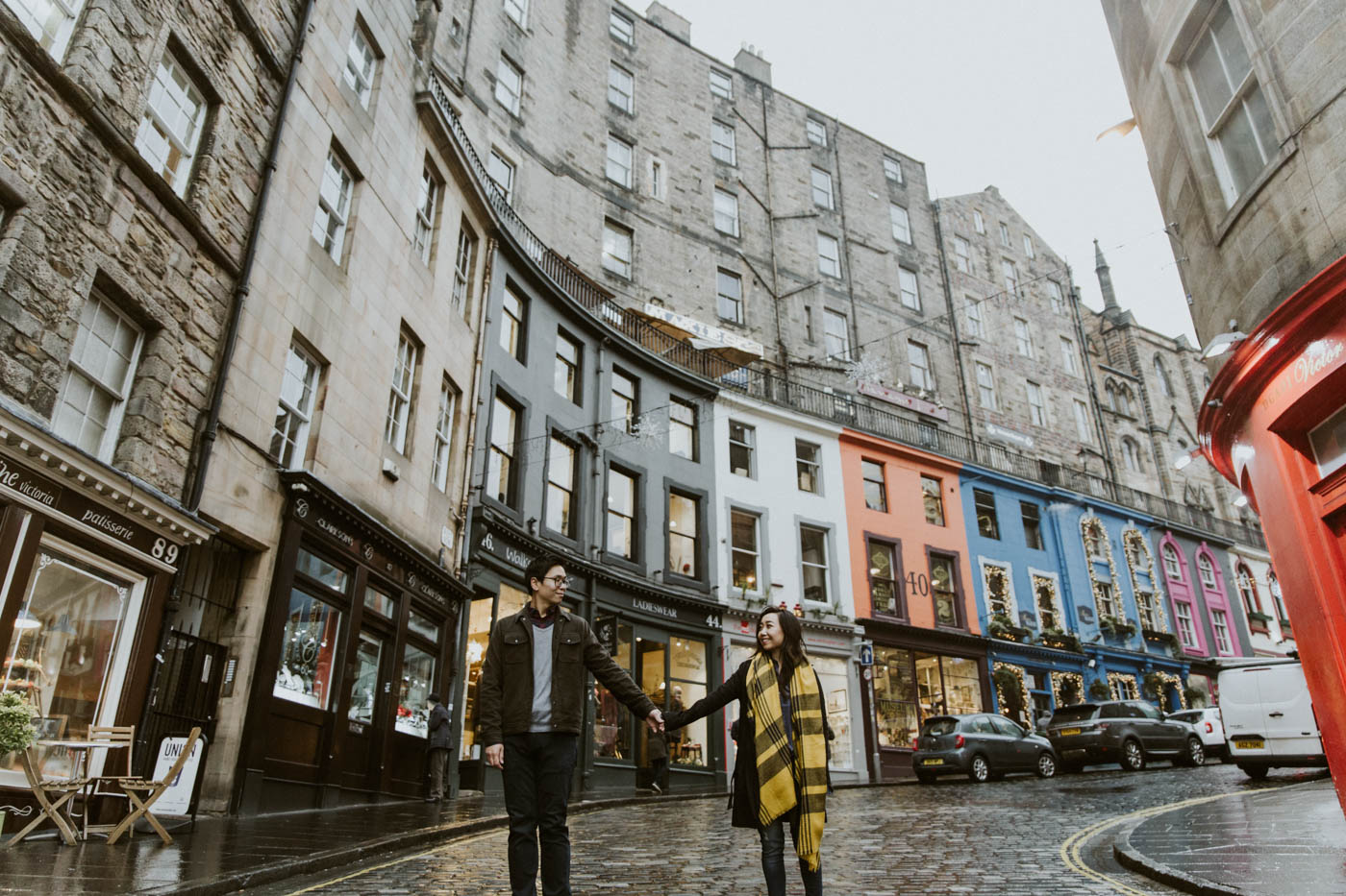 Edinburgh Old Town Engagement Photoshoot by Ceranna Photography