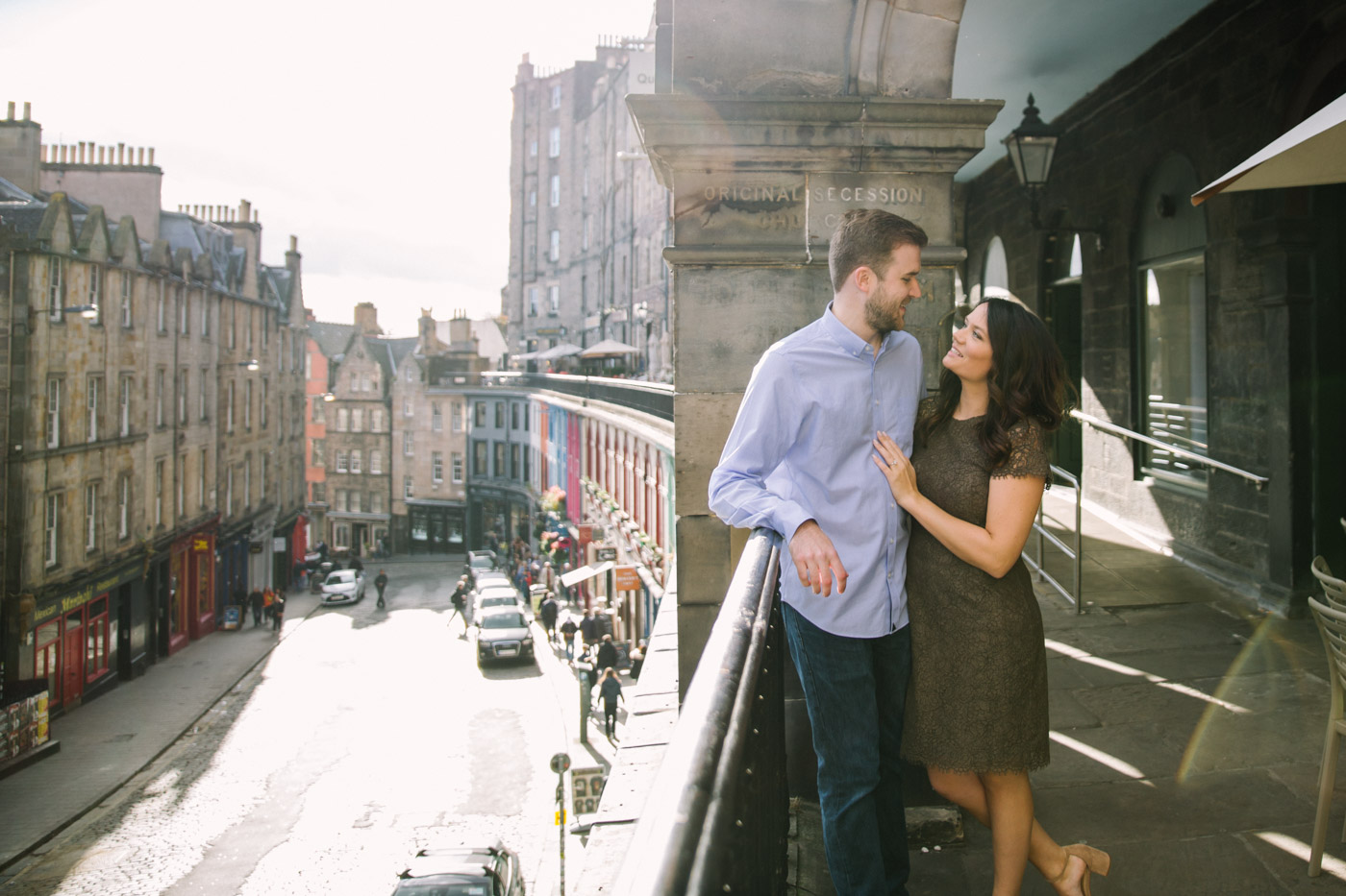 Elegant Edinburgh Engagement Photo Session