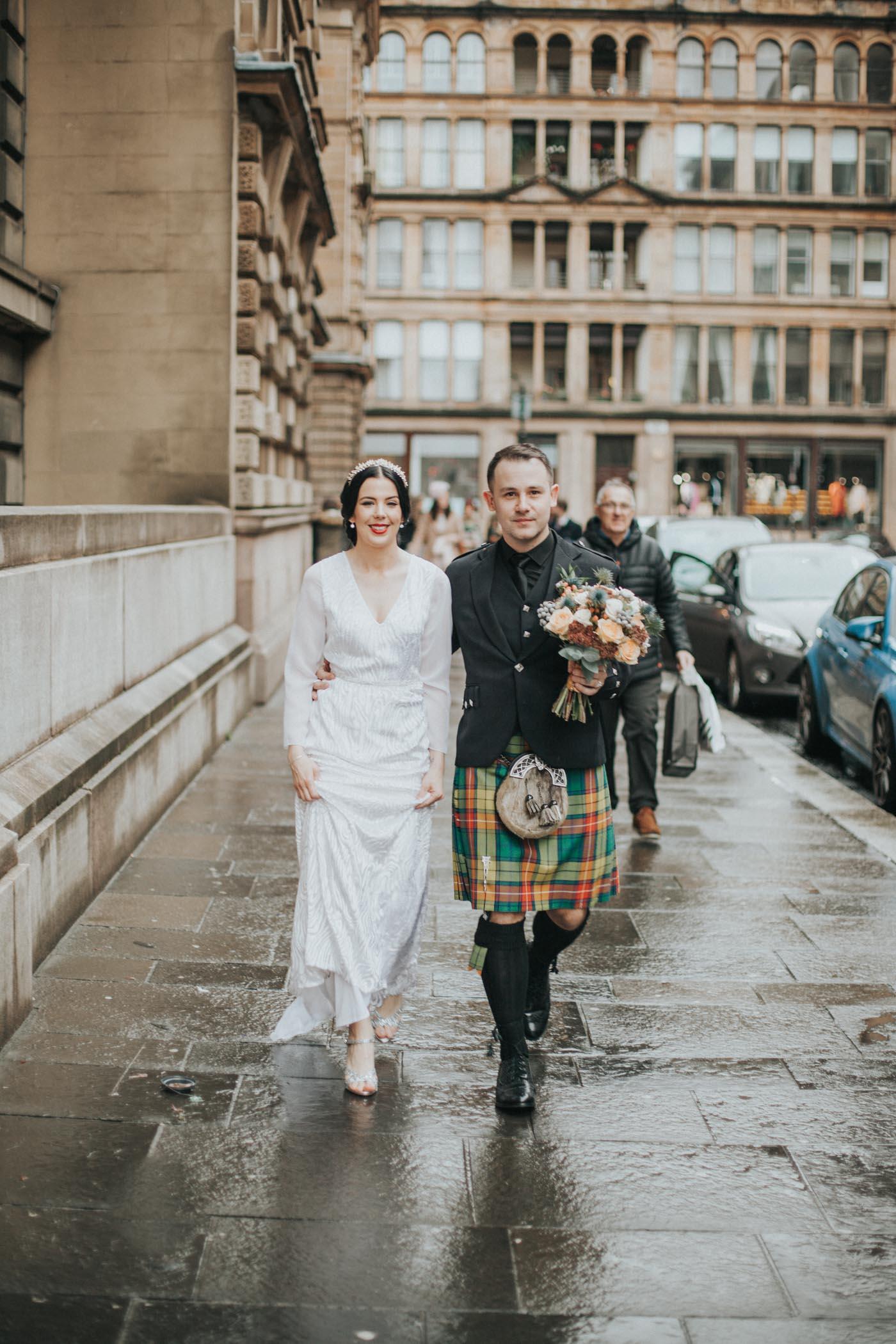 Vintage Glasgow City Chambers Wedding