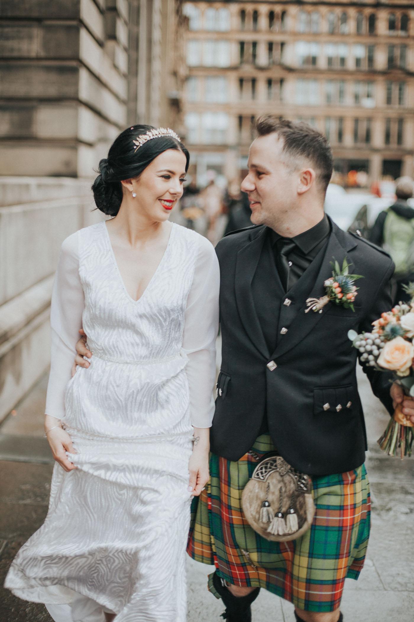 Vintage Alternative Glasgow City Chambers Wedding