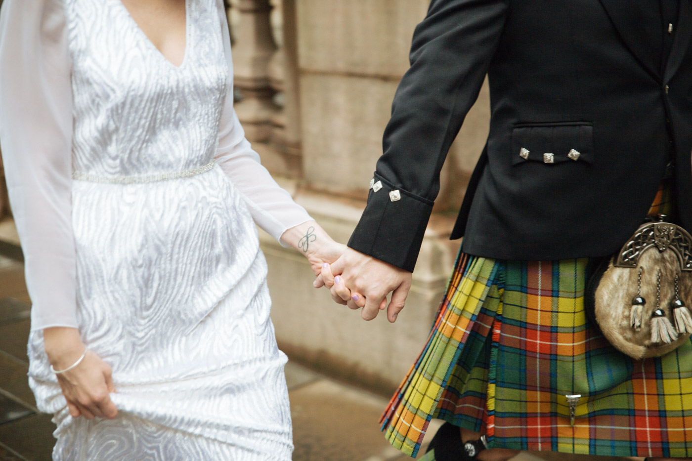 Glasgow urban wedding photographer
